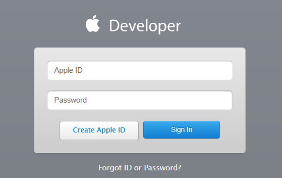 Apple Developer Login